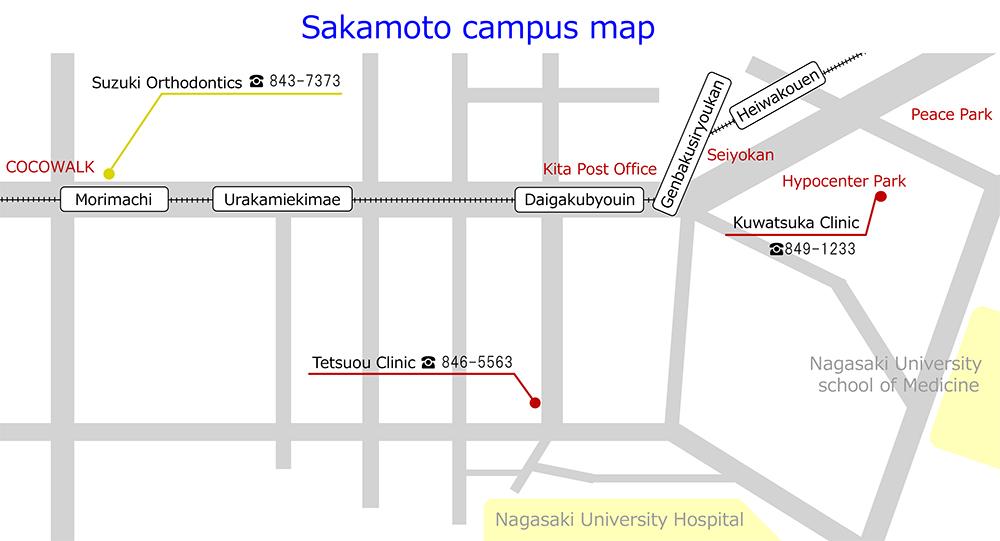 Sakamoto campus map